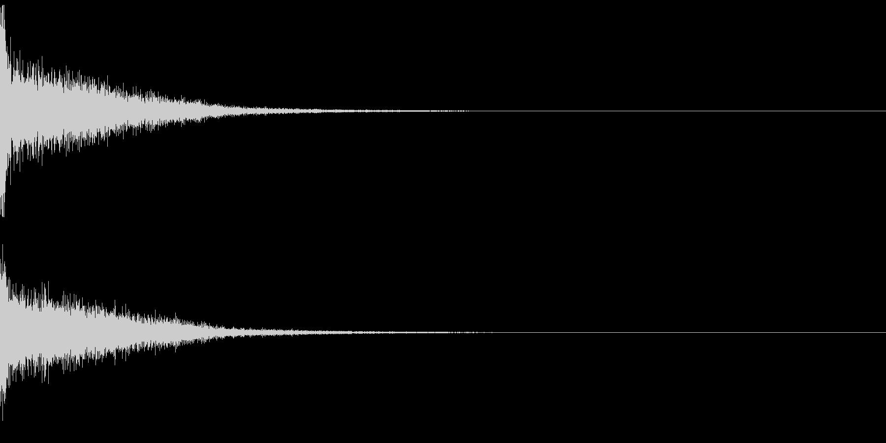 ゲームのメニュー画面 ボタン決定音の未再生の波形