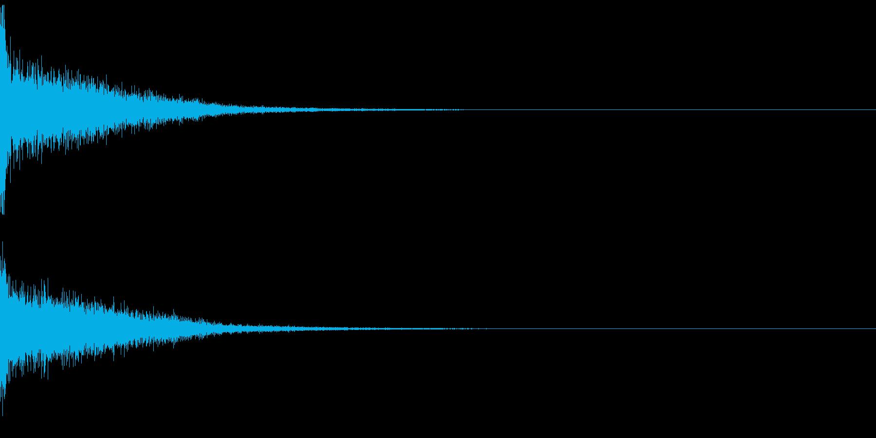ゲームのメニュー画面 ボタン決定音の再生済みの波形