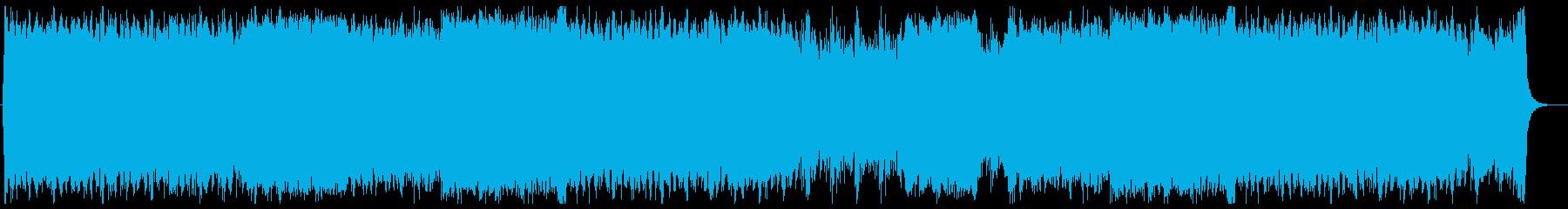 バトルを演出するハリウッド系オーケストラの再生済みの波形