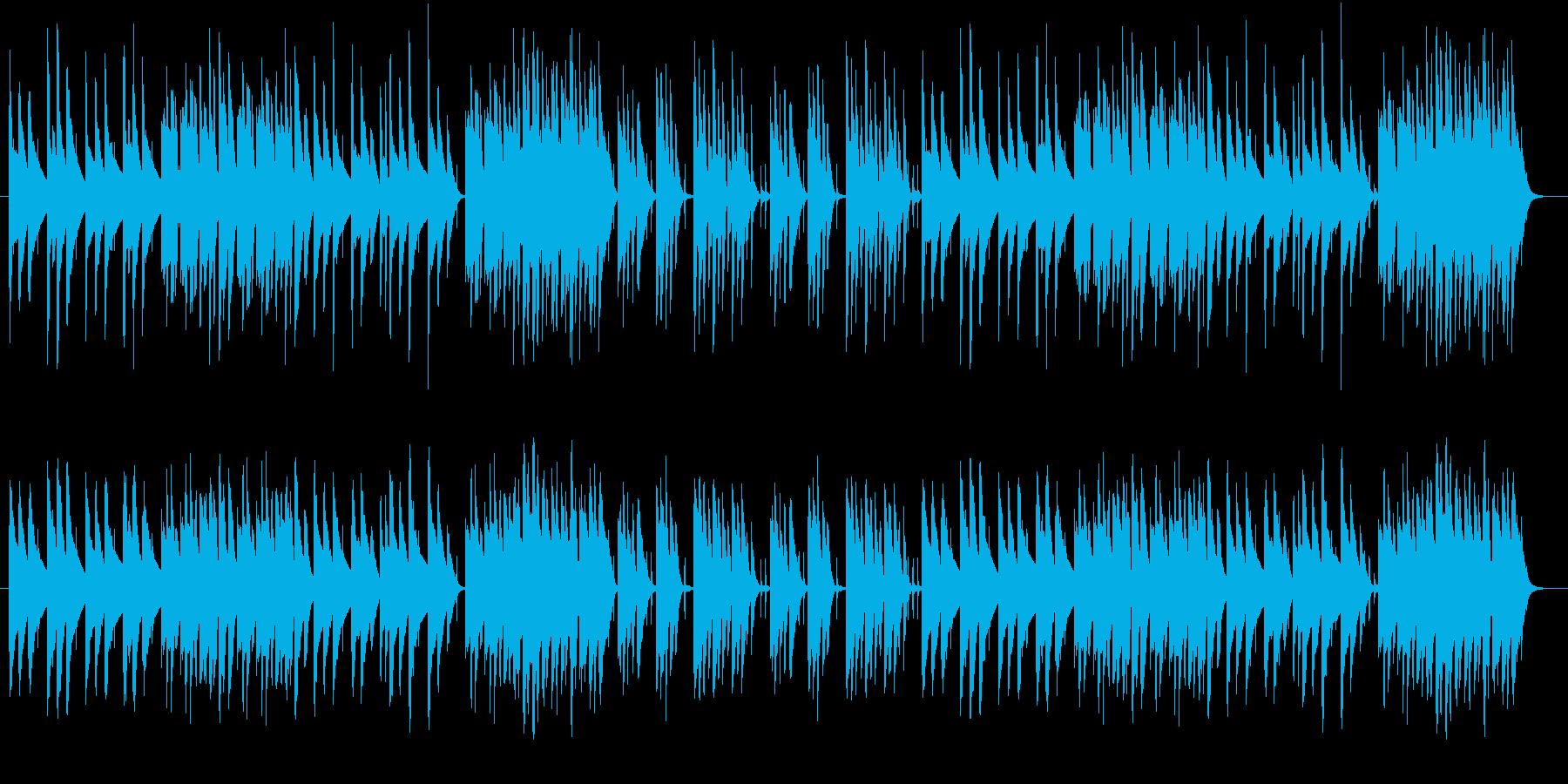 木琴がメインのほのぼのとした短めの曲の再生済みの波形