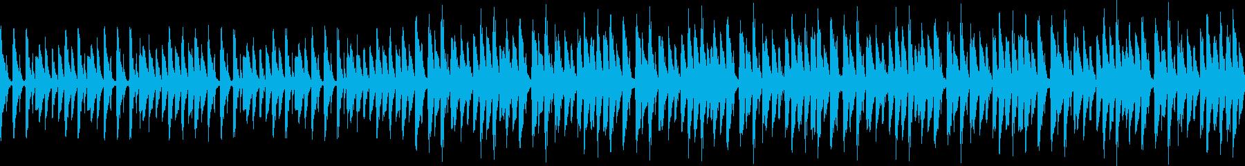 シンプルなテクノ風ループの再生済みの波形