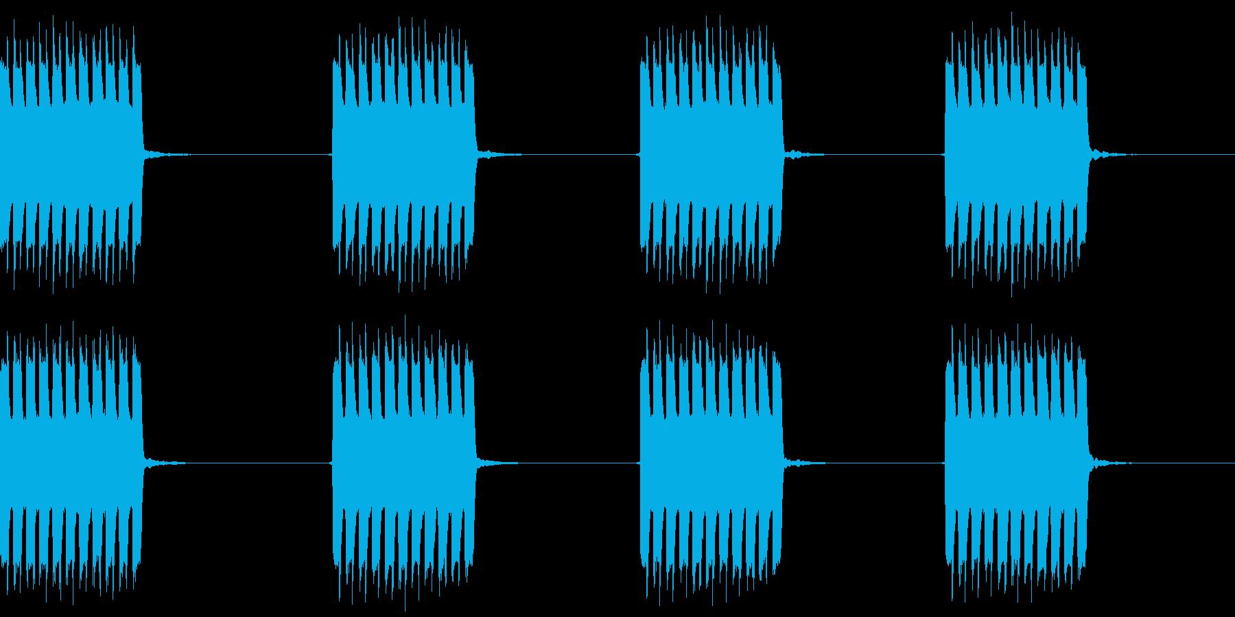 電話の着信音の再生済みの波形