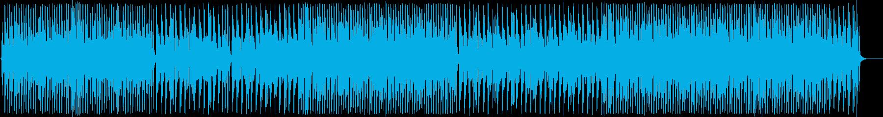 踊りたくなるようなお洒落なBGMの再生済みの波形