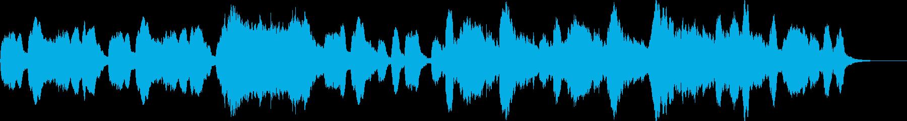 のんびりする優しい木管三重奏の再生済みの波形