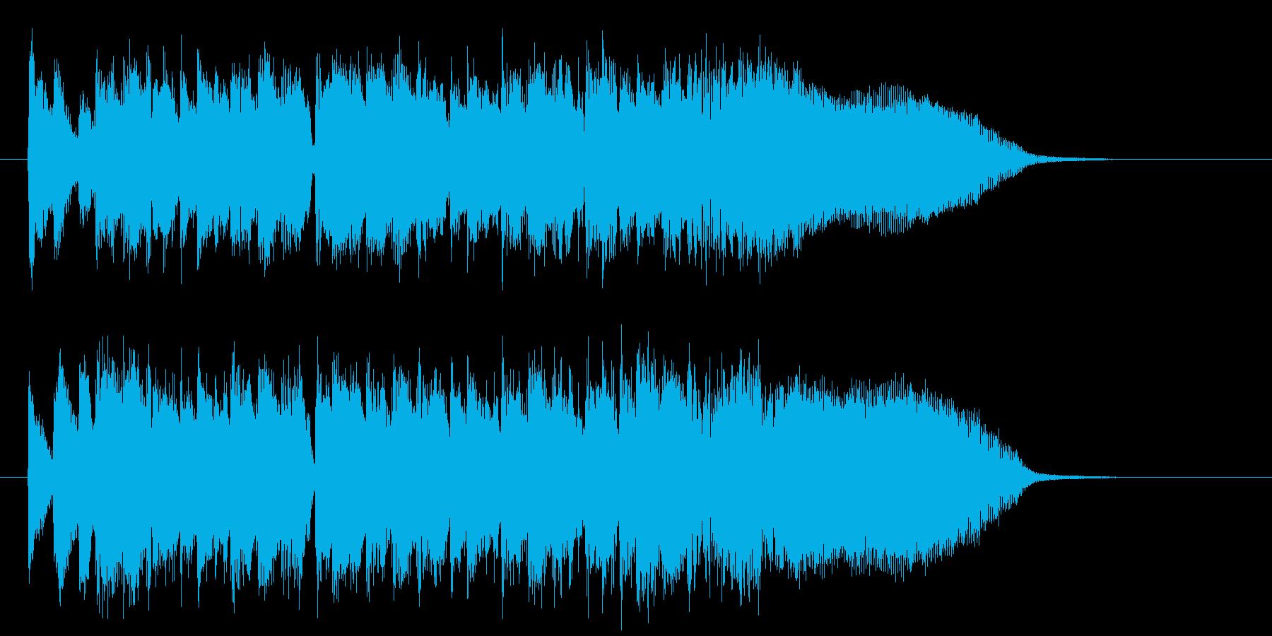 ワクワク感と爽やかシンセサイザーサウンドの再生済みの波形