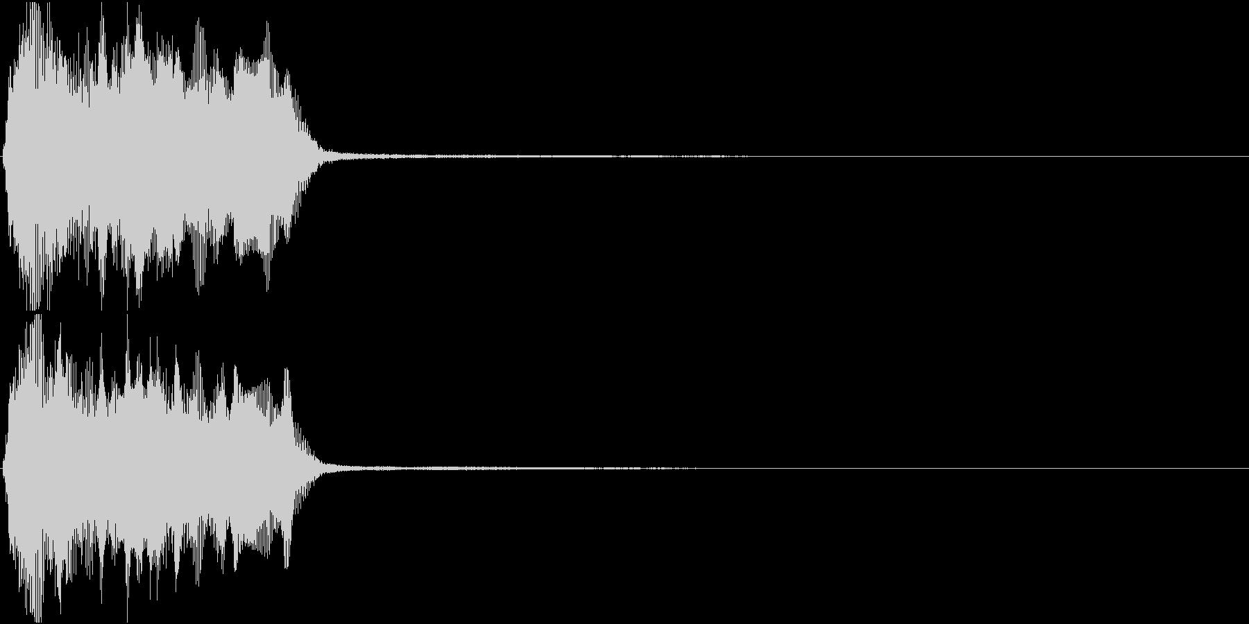 トランペット ファンファーレ 定番 9の未再生の波形