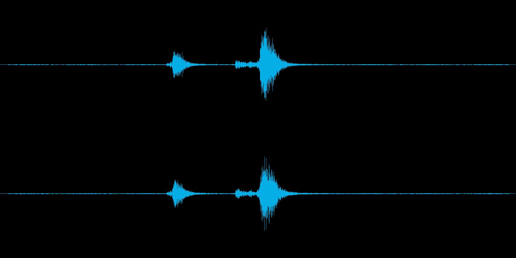 食器(ガラス製)の音ですの再生済みの波形
