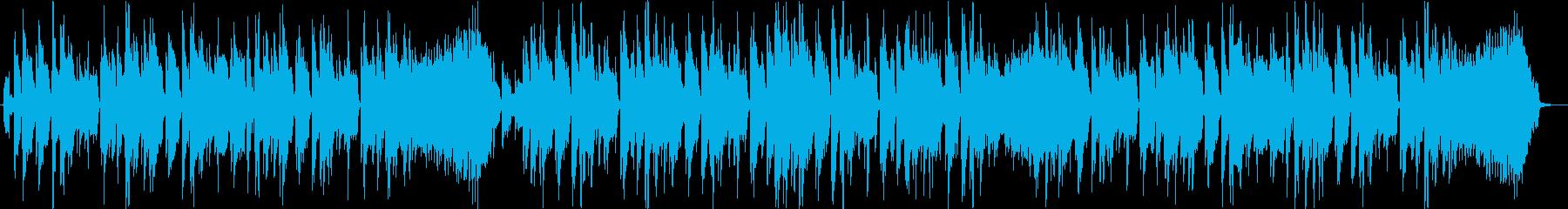 シンセリードによるのファンキーなジングルの再生済みの波形