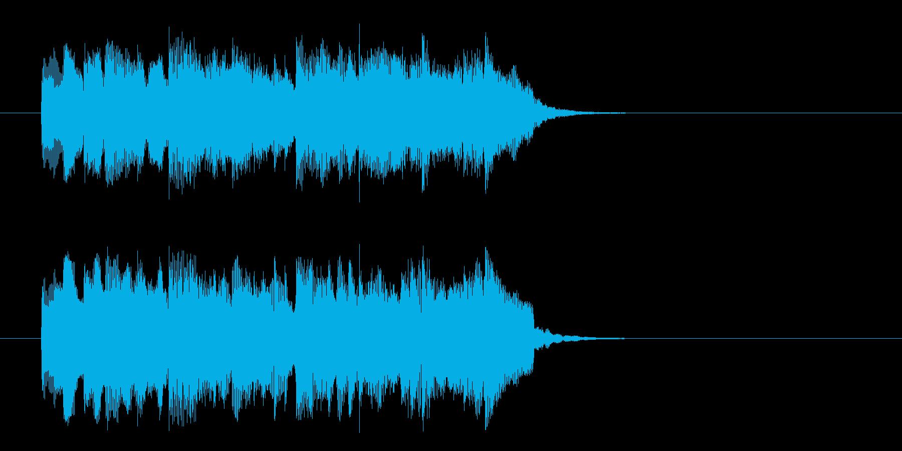 ほのぼのアコースティック調ジングルの再生済みの波形
