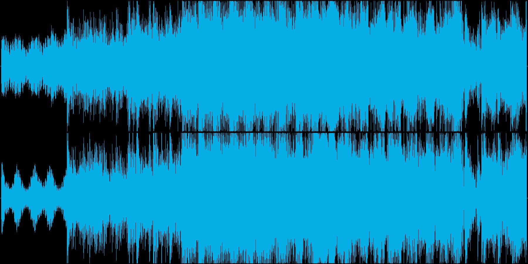怪しげな雰囲気のテクノ風ハウスの再生済みの波形