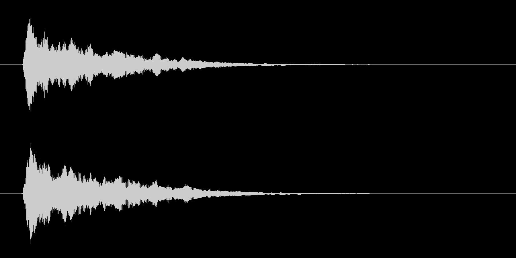 リリース短め、あっさり、さっぱりなオケヒの未再生の波形