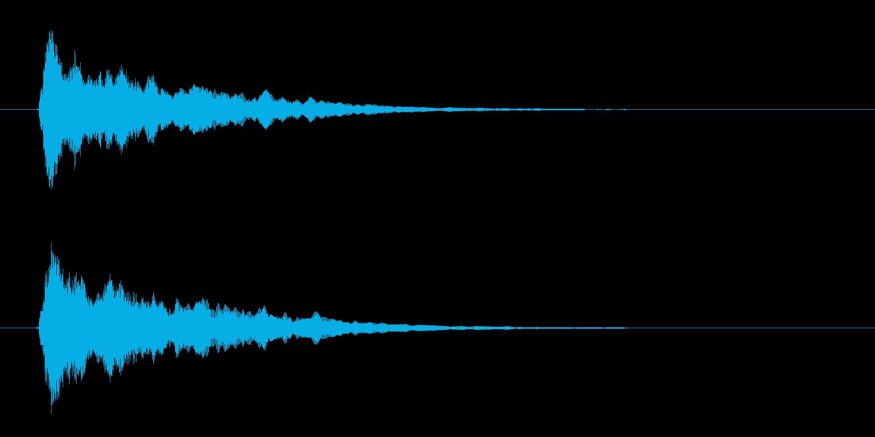 リリース短め、あっさり、さっぱりなオケヒの再生済みの波形