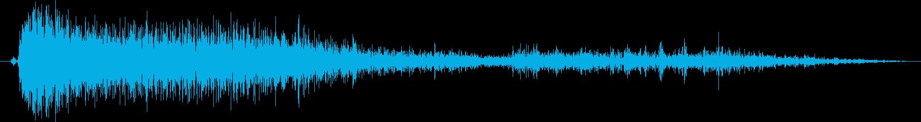 【銃声音011】ライフルの発砲音03の再生済みの波形