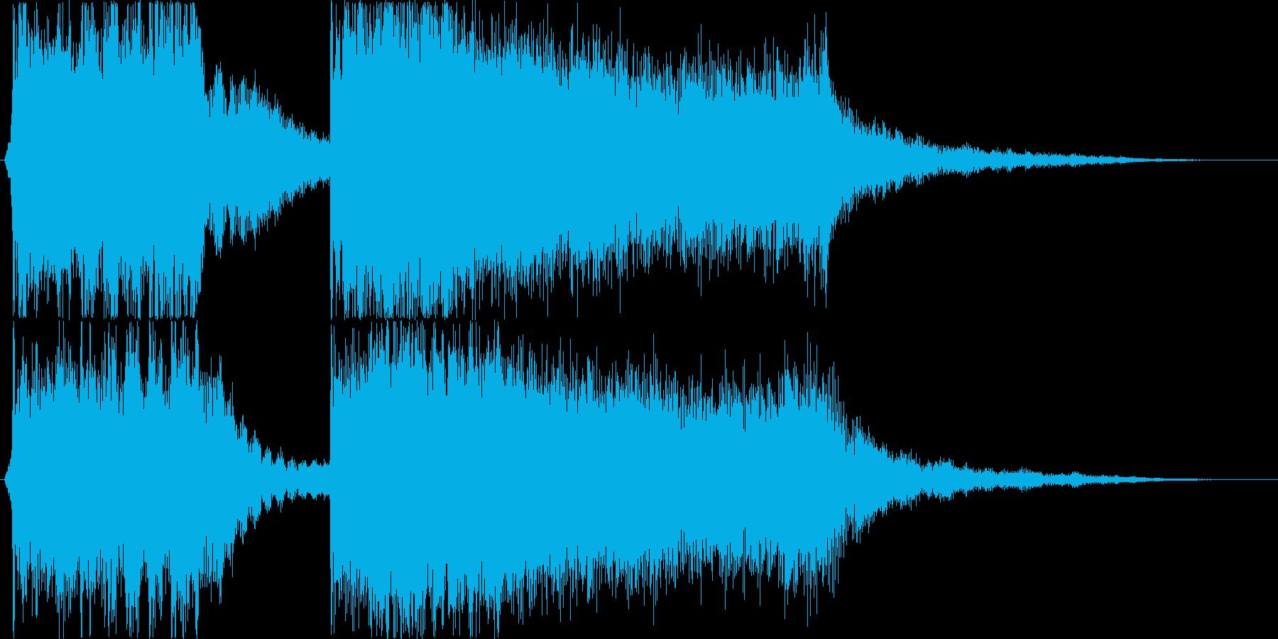 スリリングなstringsと衝撃音の再生済みの波形