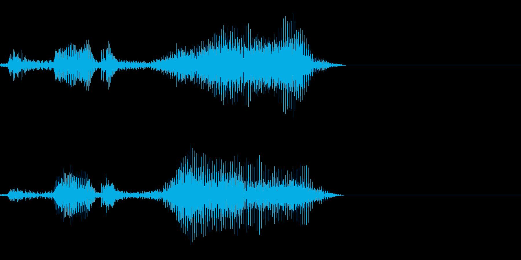 ゾンビの発声に 13の再生済みの波形