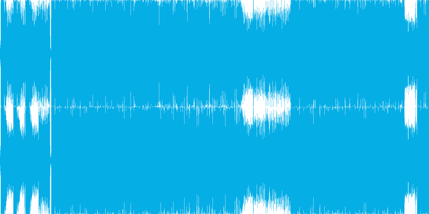 2分サイズ激しめのダンスロックですの再生済みの波形