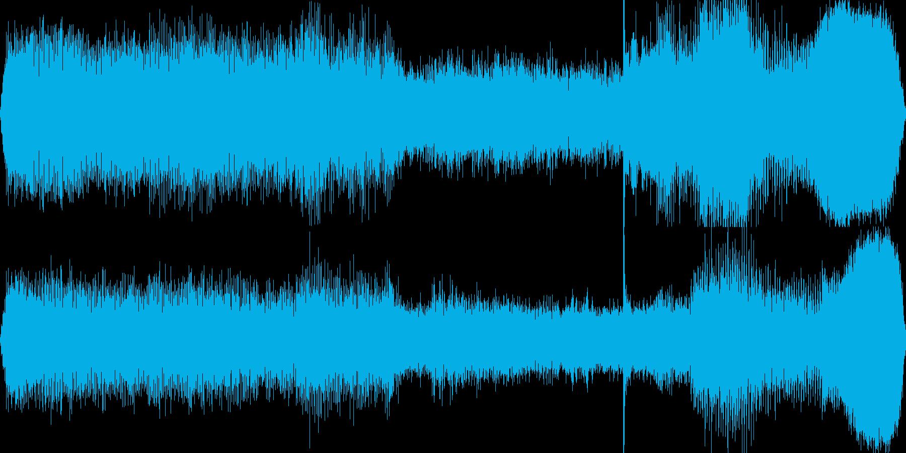 ヘリコプター着陸(機内)→外へ出るの再生済みの波形