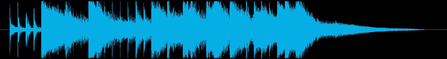 シタールによるインド風妖艶なロゴAの再生済みの波形
