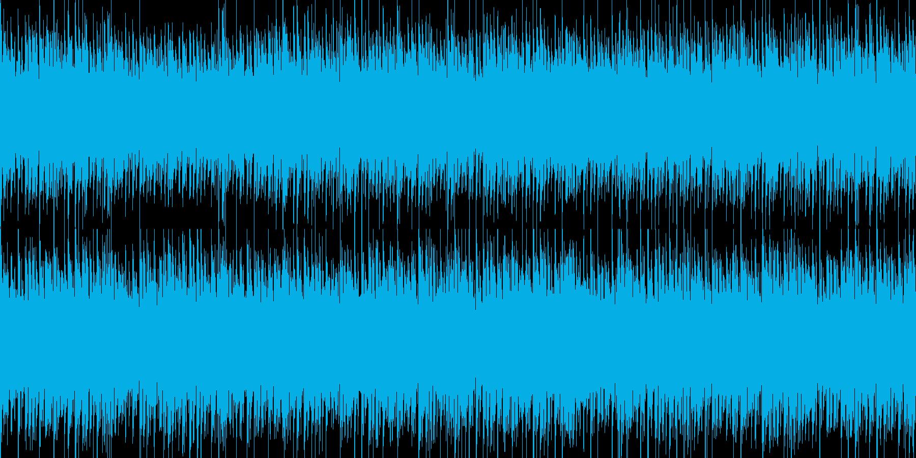 浮遊感のある宇宙っぽいBGMの再生済みの波形