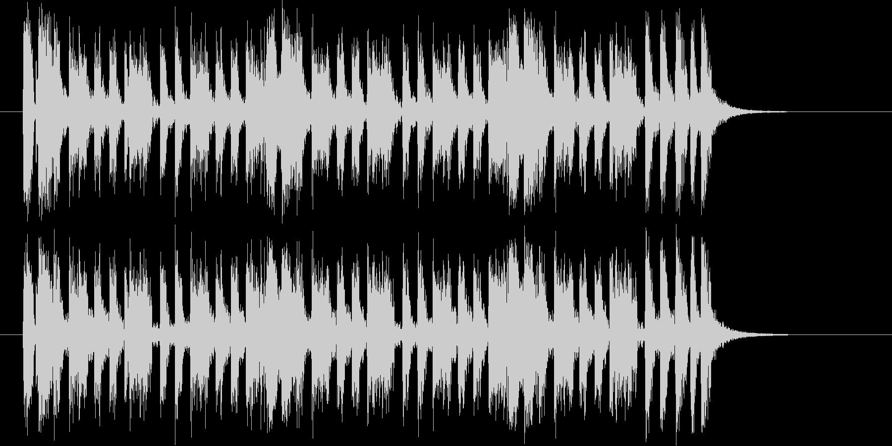 軽快なピアノが特徴のロックなジングルの未再生の波形
