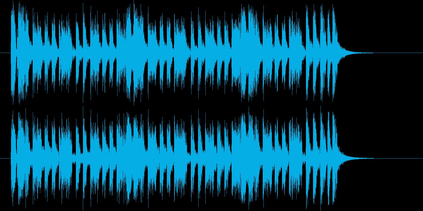 軽快なピアノが特徴のロックなジングルの再生済みの波形