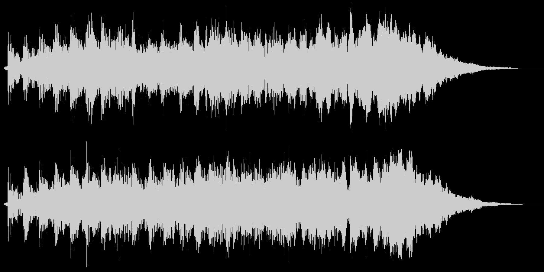 シンセサイザーの爽やかサウンドロゴの未再生の波形