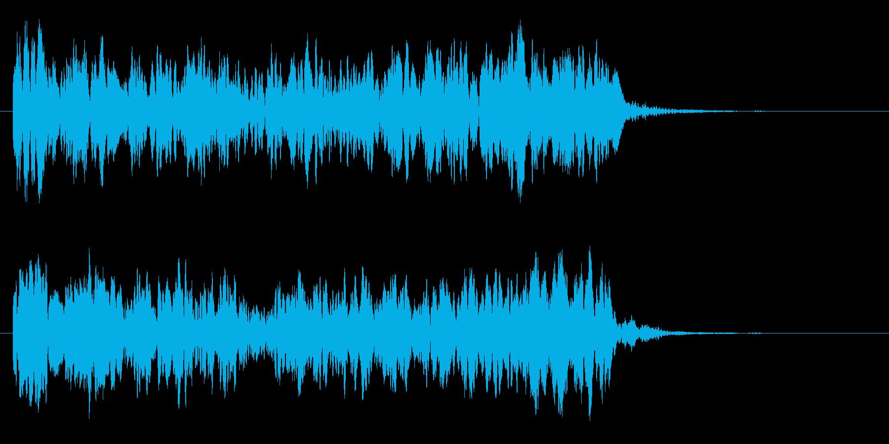 上昇効果音(ヒューン↑ヒラヒラ)の再生済みの波形