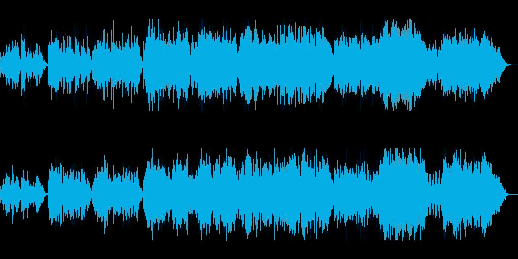 健やかで和やかなクラシカルオーケストラの再生済みの波形