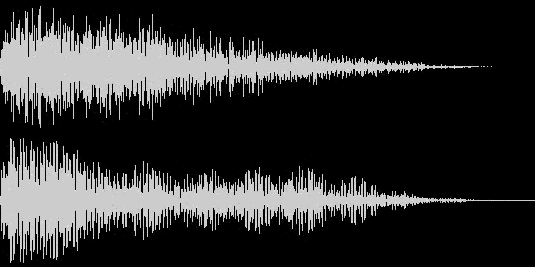 ホラーにありそうな効果音です。暗く低い…の未再生の波形