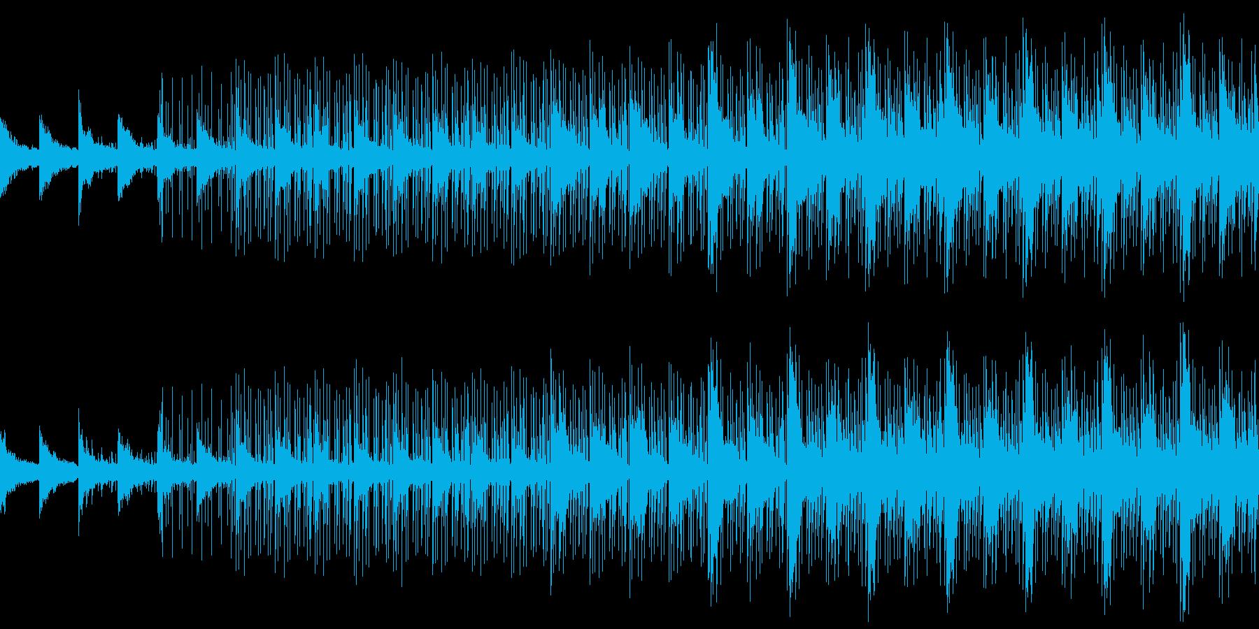 クールで軽やかエレクトロBGM_LOOPの再生済みの波形