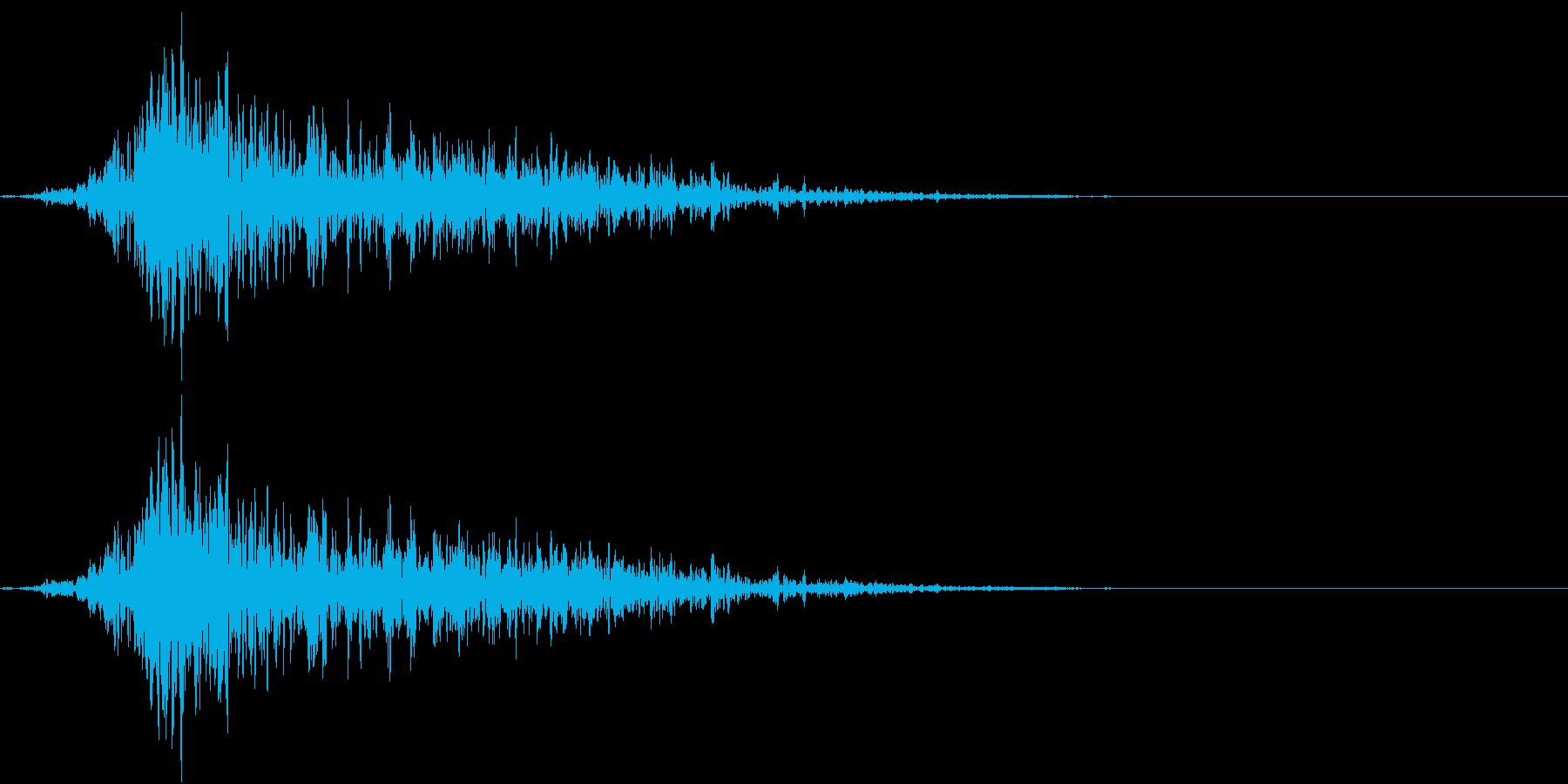 嵐の日の突風(野太い)の再生済みの波形