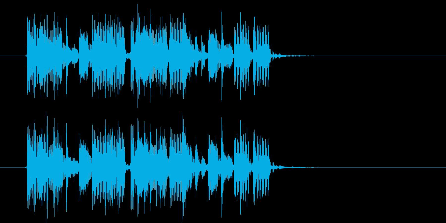 おしゃれで宇宙感のあるシンセサウンドの再生済みの波形