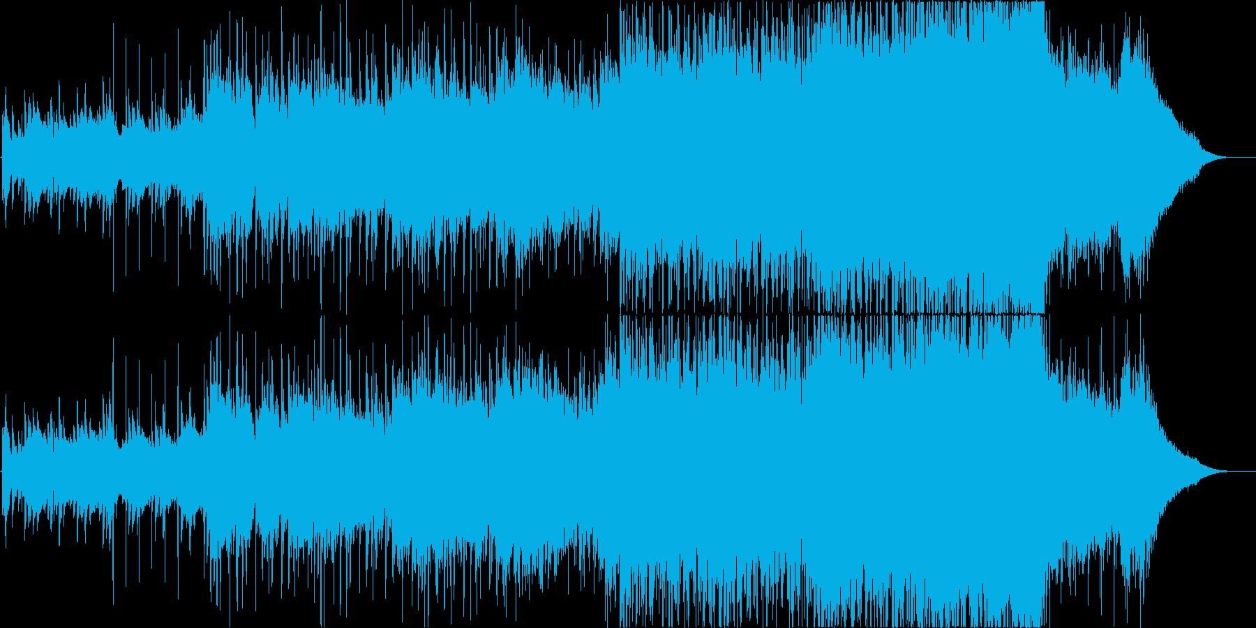 アコギとストリングスの重厚感のある曲の再生済みの波形