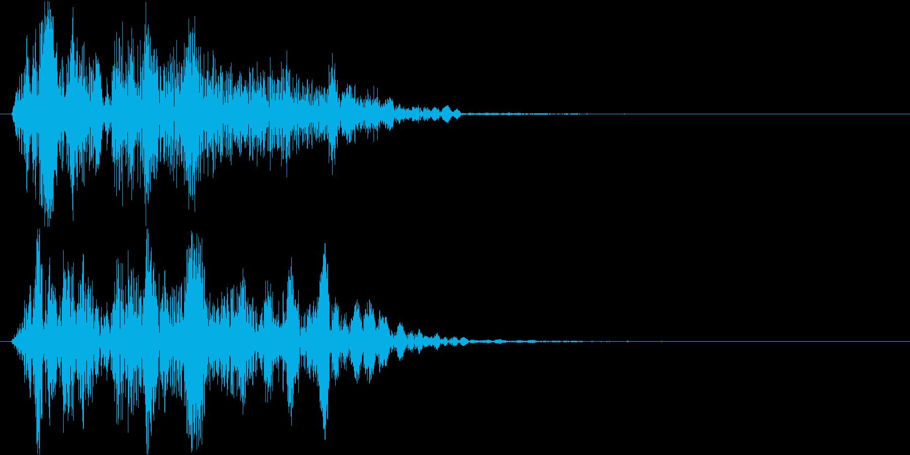 【デュクシ】打撃 格闘 殴る 攻撃 衝撃の再生済みの波形