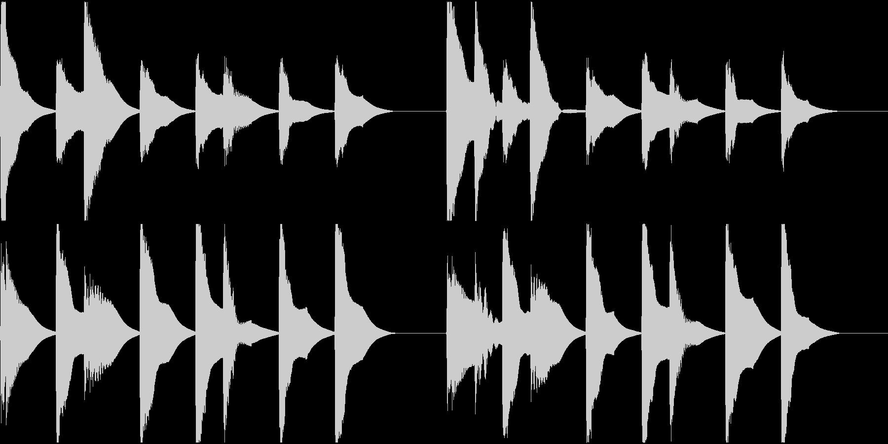 着信音 ループ お知らせ 通知 8の未再生の波形