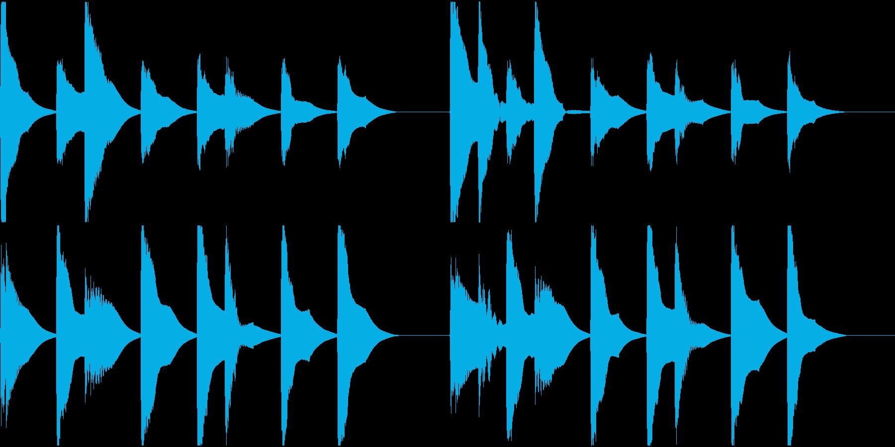 着信音 ループ お知らせ 通知 8の再生済みの波形