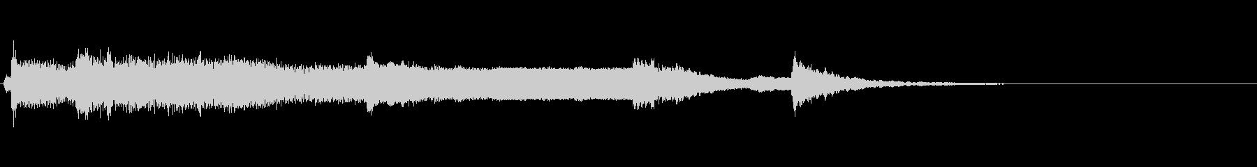 和風ジングル:しぶい尺八、筝、鼓の未再生の波形