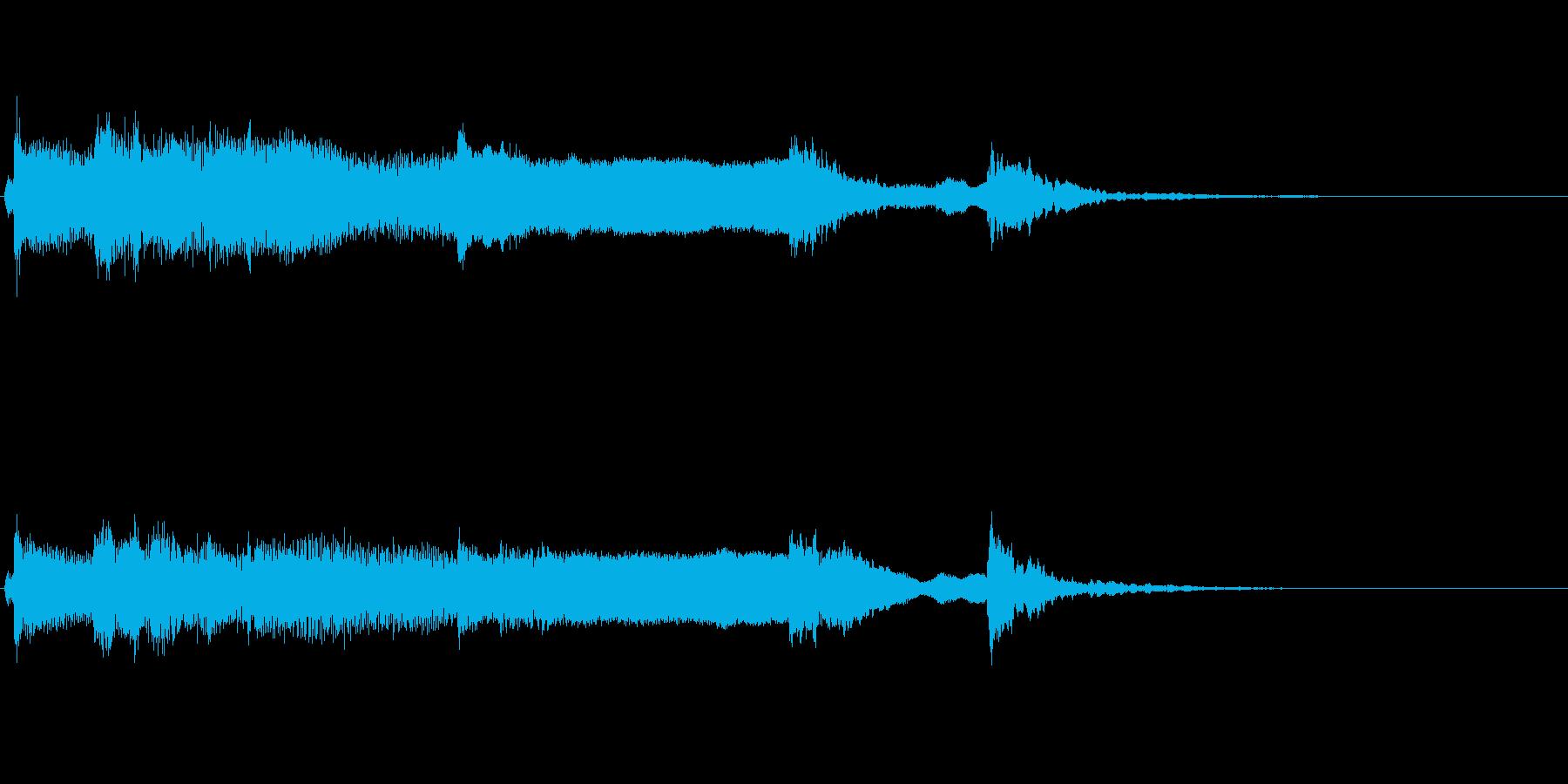 和風ジングル:しぶい尺八、筝、鼓の再生済みの波形