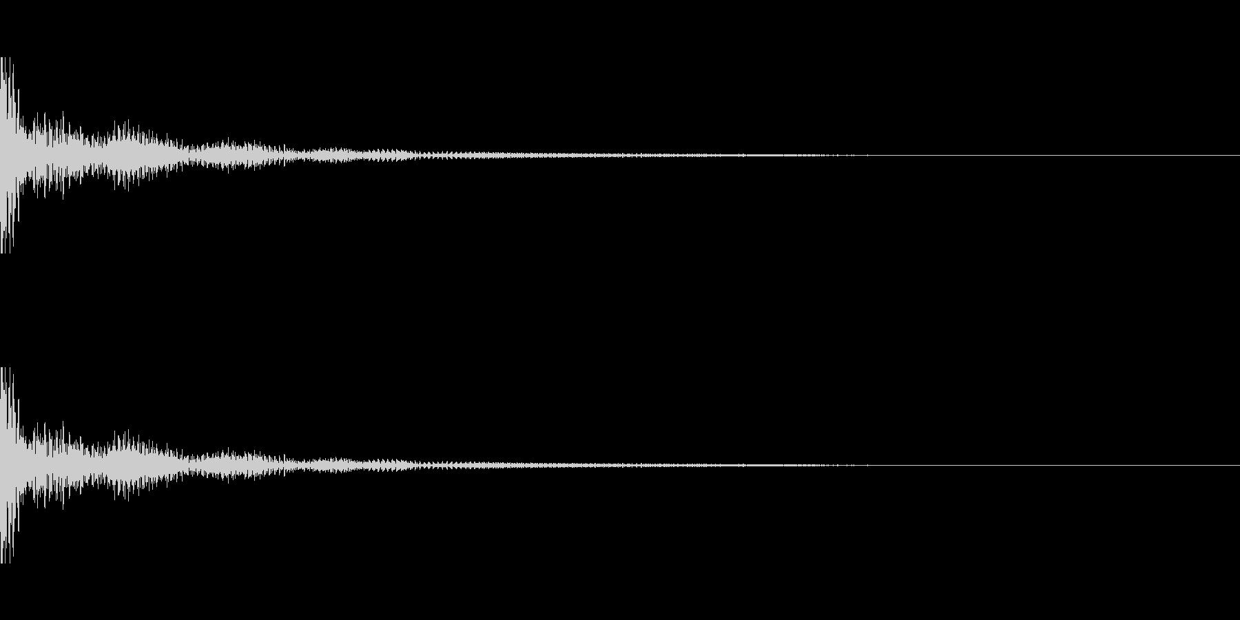 ドーン!↑↓ティンパニーピッチ操作の未再生の波形