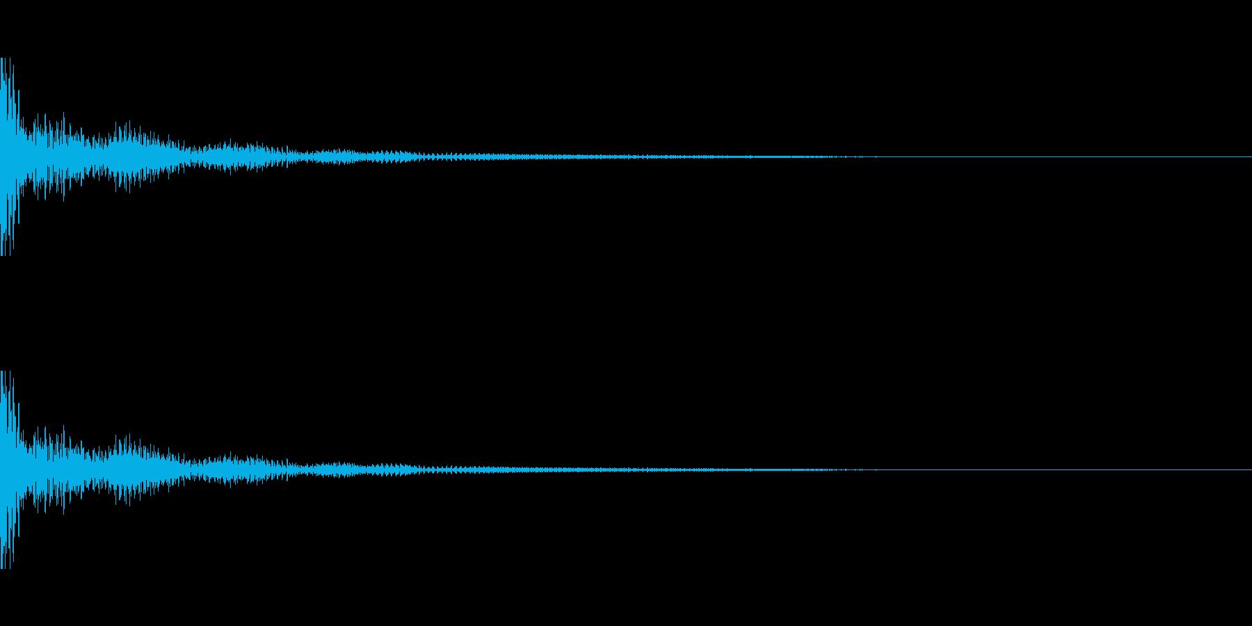 ドーン!↑↓ティンパニーピッチ操作の再生済みの波形
