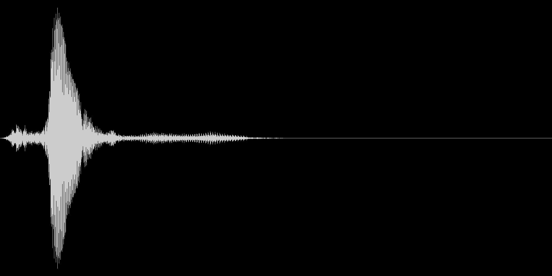 ゲーム掛け声男2ハイッ2の未再生の波形