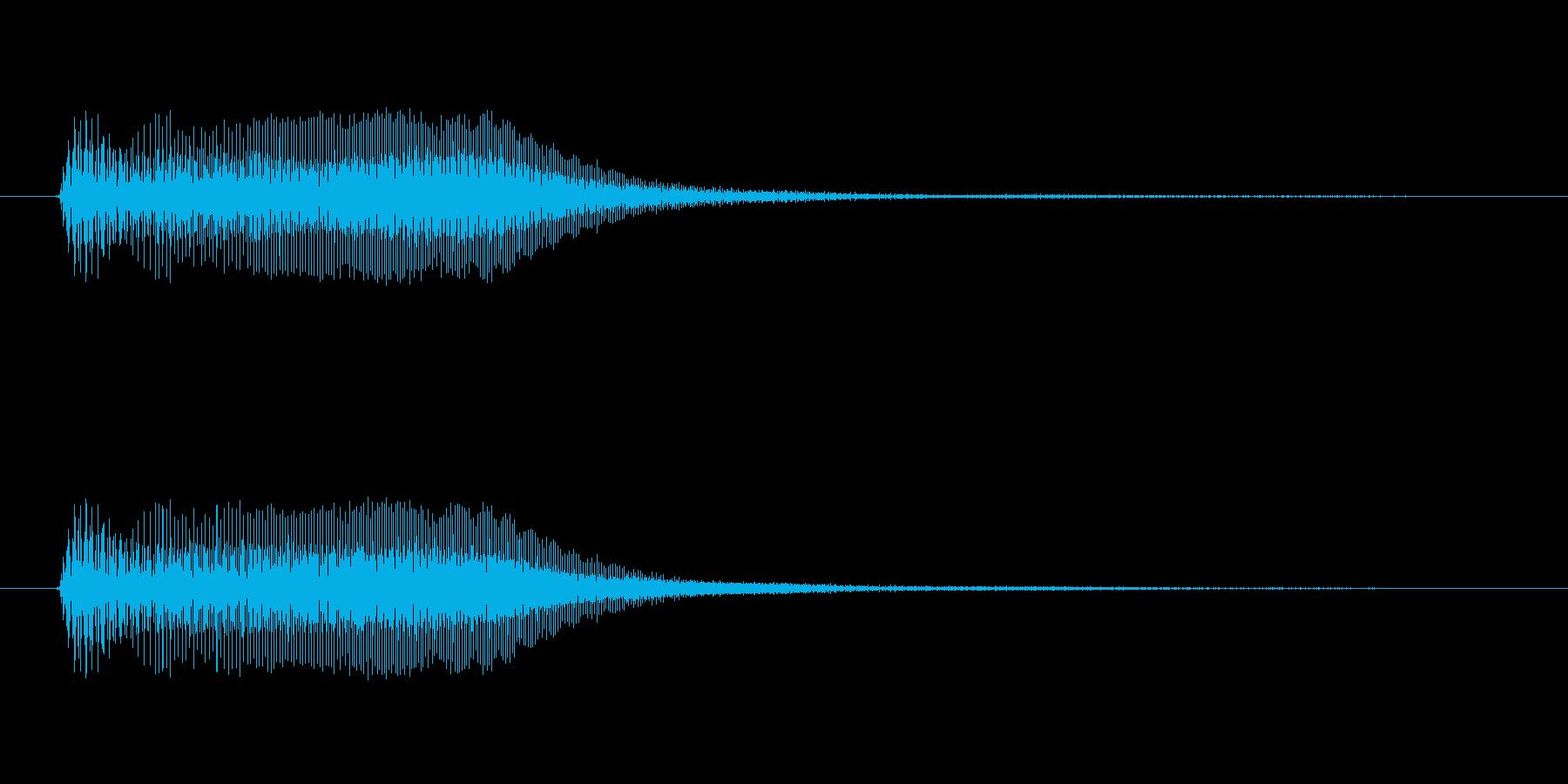 アプリ・ゲームの決定音_004の再生済みの波形