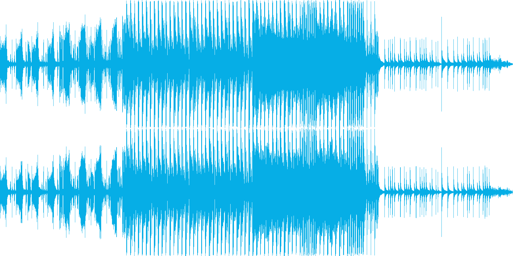 楽しいエンディング曲。クイズ番組風の再生済みの波形