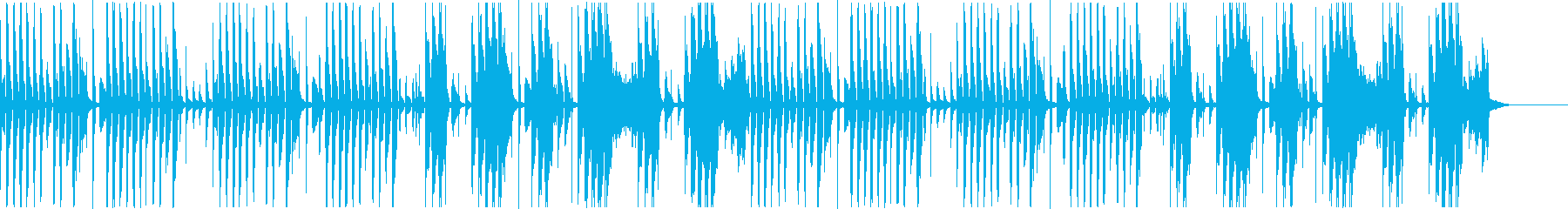 無機質な雰囲気の再生済みの波形