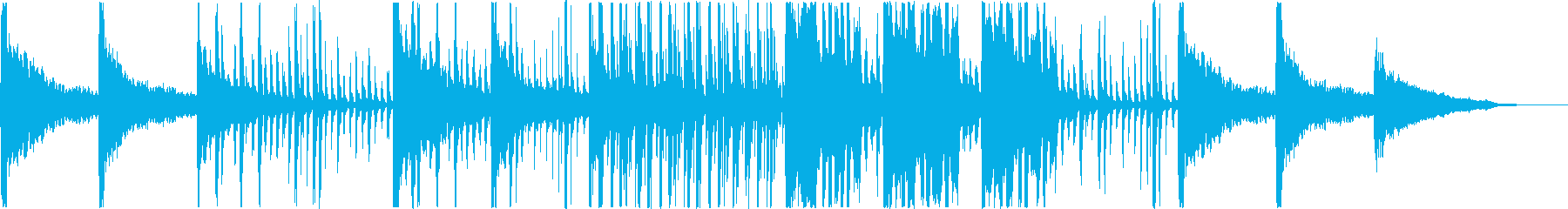 夜・暗闇のイメージ / 鍵盤・打楽器の再生済みの波形