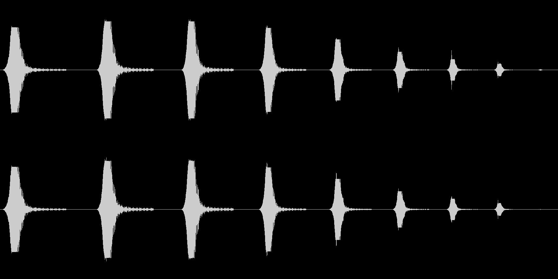 プワプワプワプワァ(潜水時・回想時など)の未再生の波形