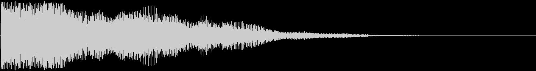 ショック音の未再生の波形