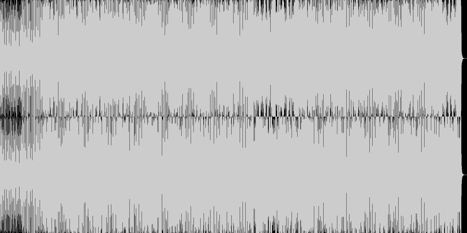 疾走感と温かみのあるドラムンベースの未再生の波形