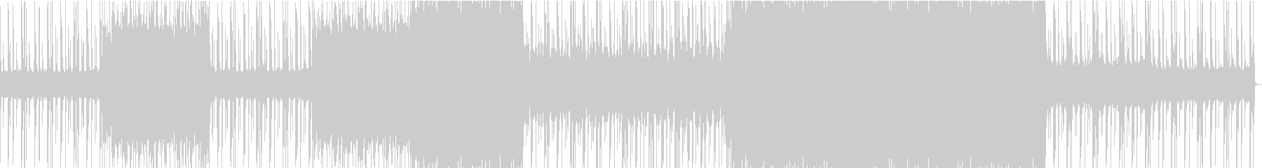 怪しげな雰囲気の重低音EDMの未再生の波形
