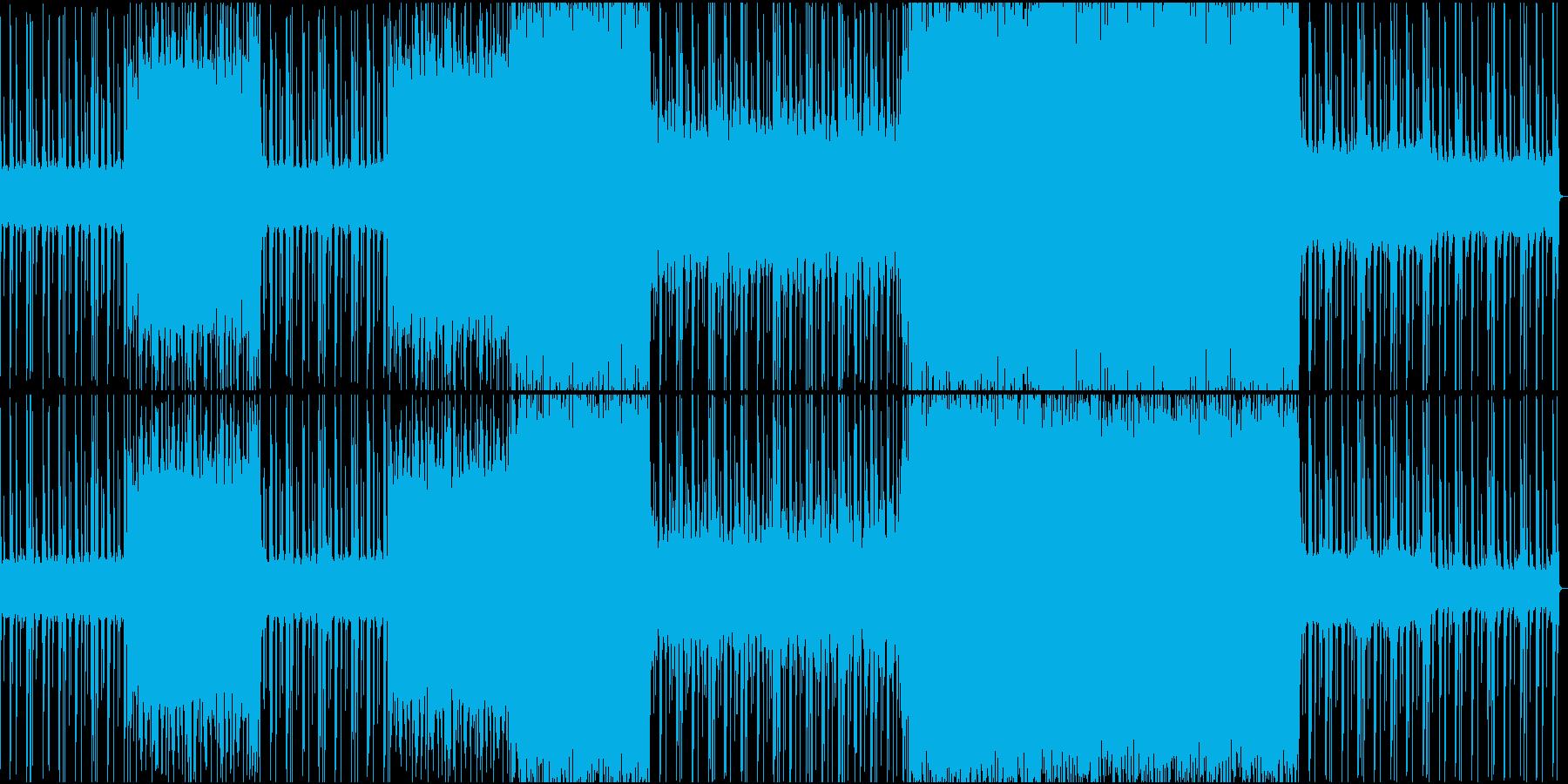 怪しげな雰囲気の重低音EDMの再生済みの波形